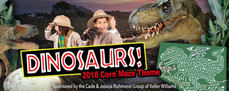 Corn Maze 2018 Dinosaurs sponsored by NBC5 Dallas-Fort Worth